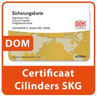 DOM Certificaat Profiel Cilinders SKG