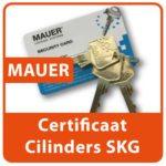 Mauer Certificaat Profiel Cilinders SKG